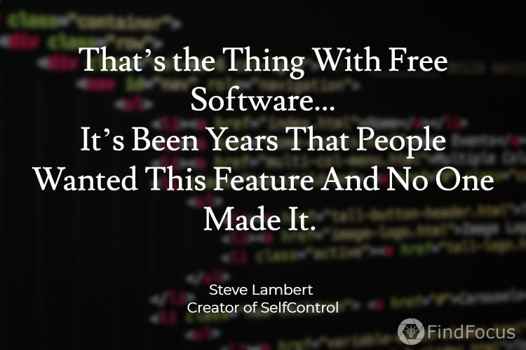 That's the Thing With Free Software... It's Been Years That People Wanted This Feature And No One Made It.