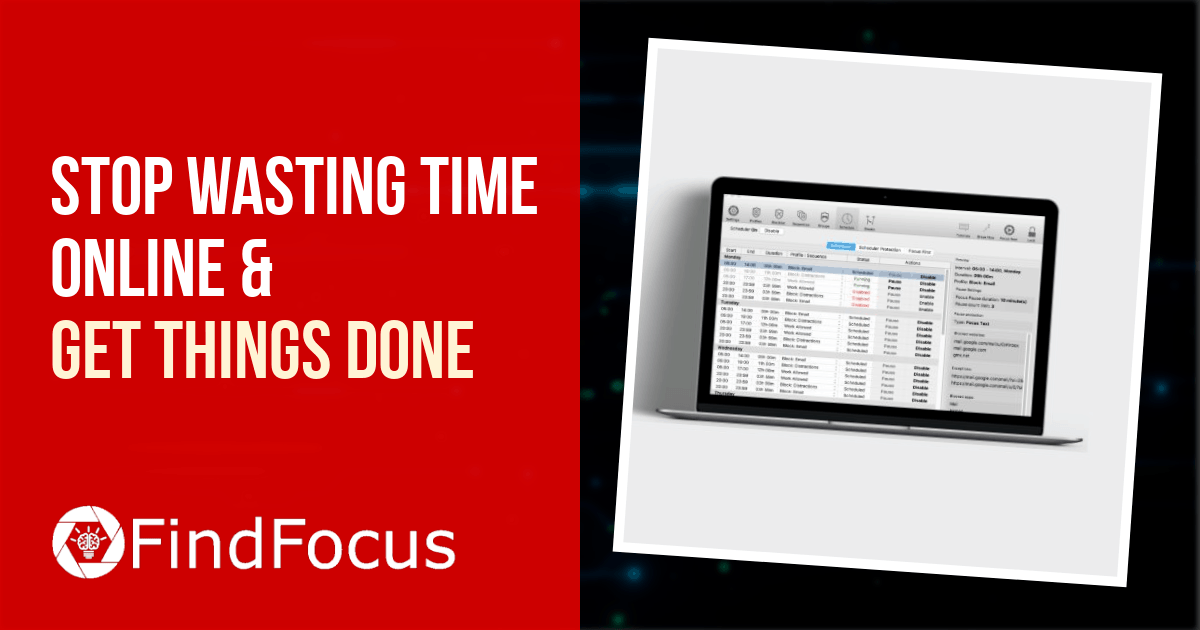 Stop Wasting Time Online And Get Things Done With The FindFocus Website And Distraction Blocker