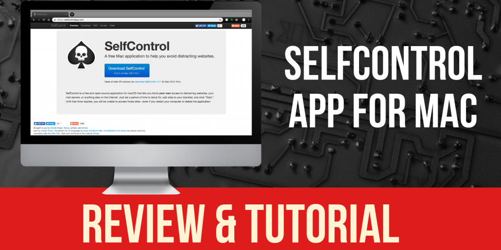 Selfcontrol App Tutorial