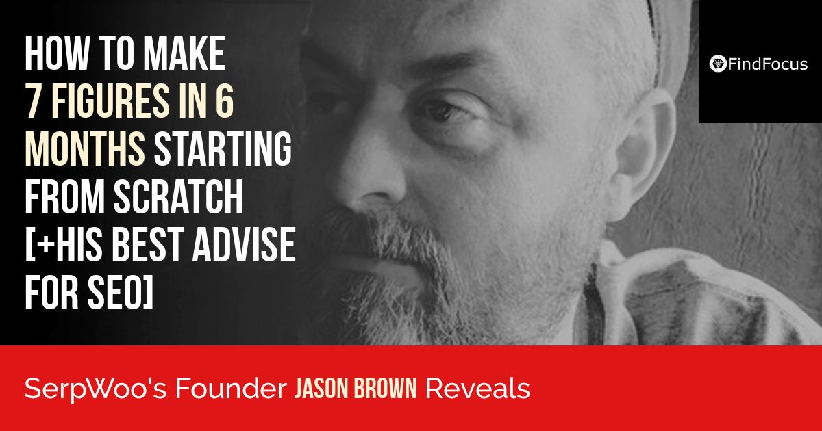Founder of SERPWoo Jason Brown