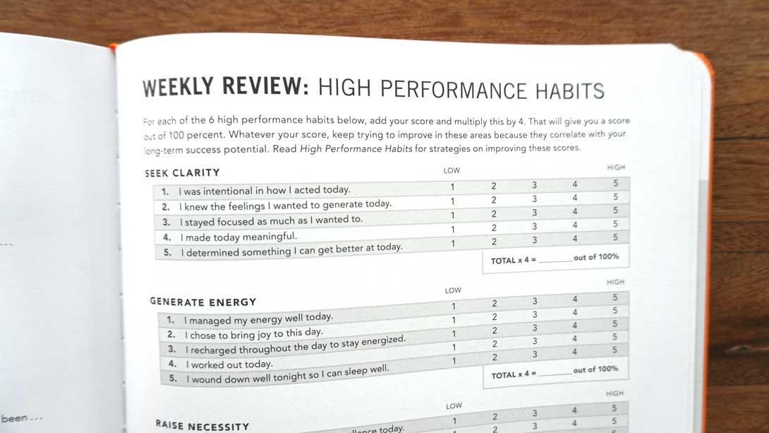 High Performance Planner by Brendon Burchard