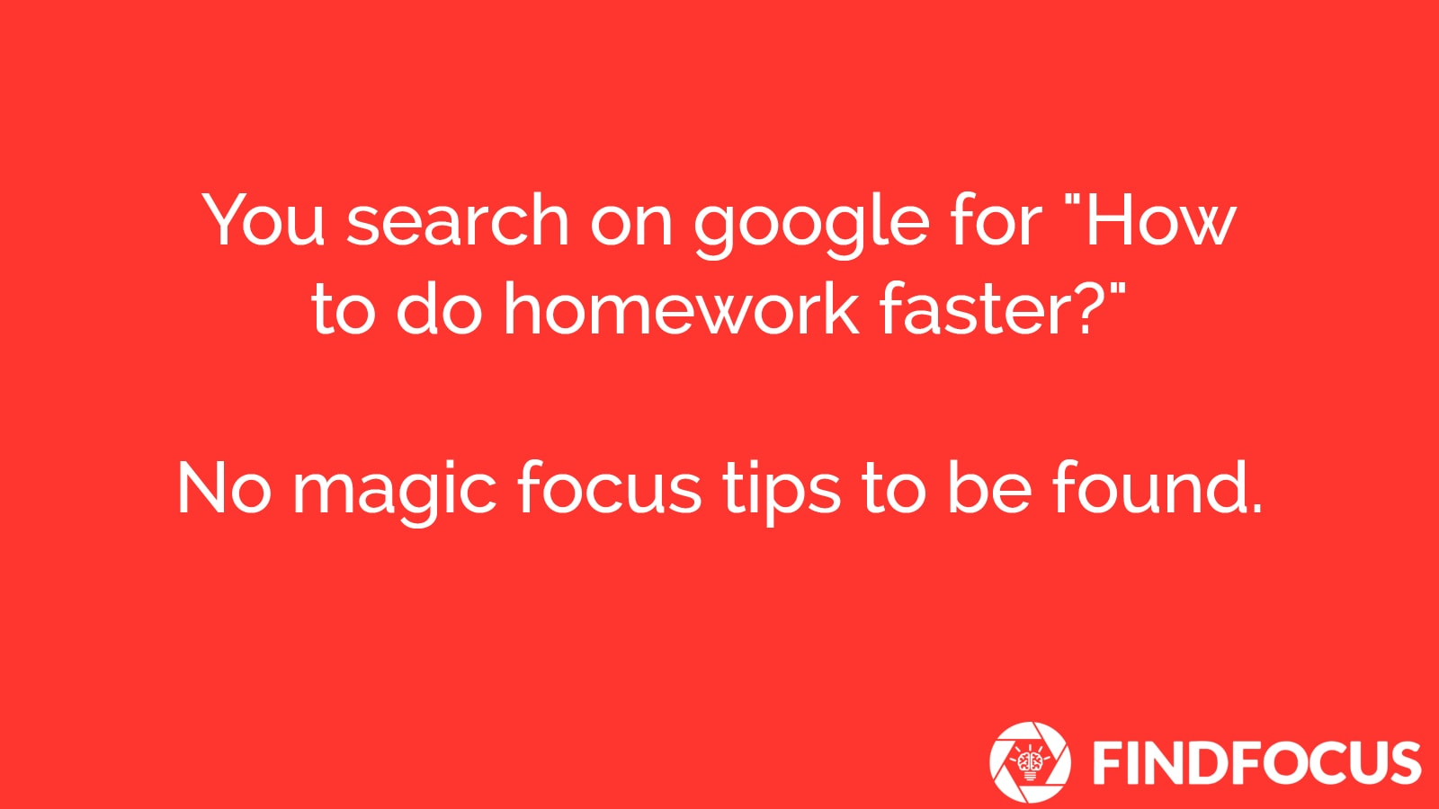 How To Finish Homework faster