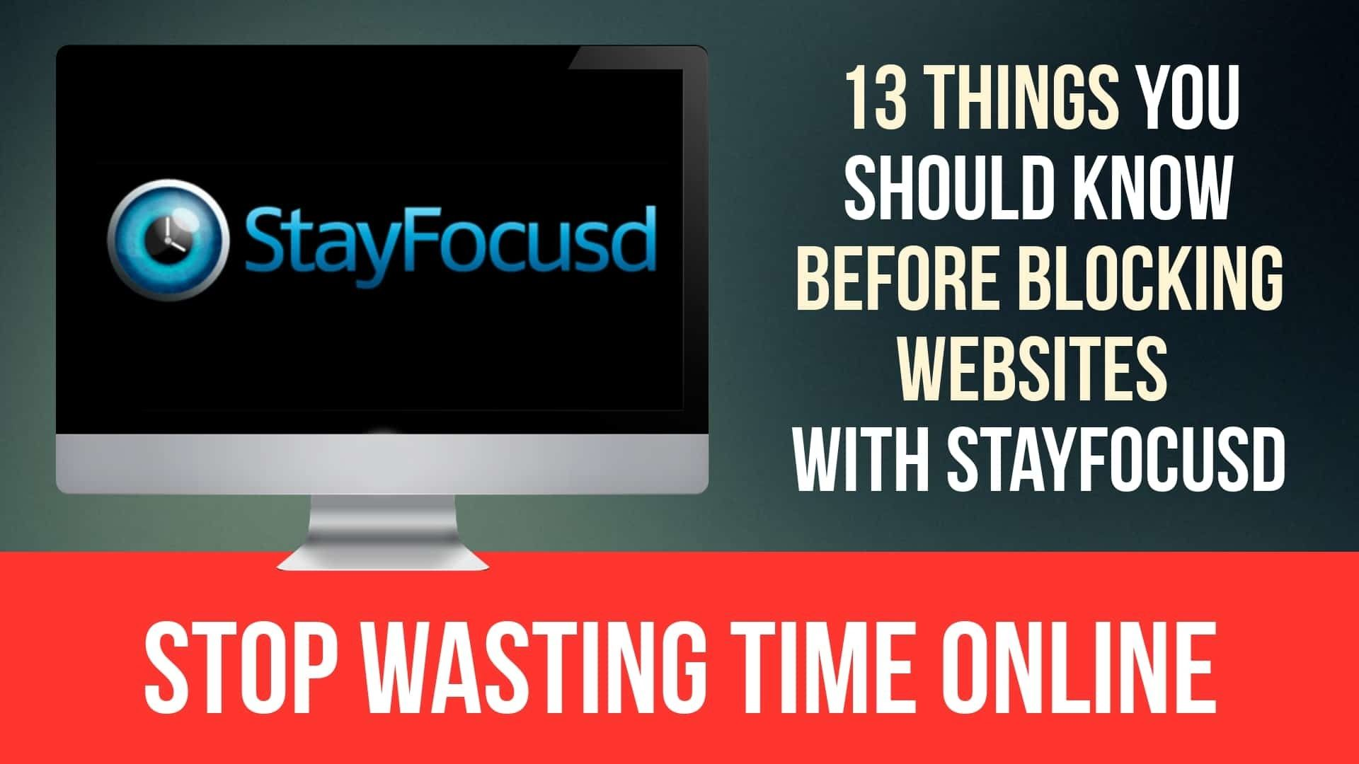 StayFocusd Website Blocker