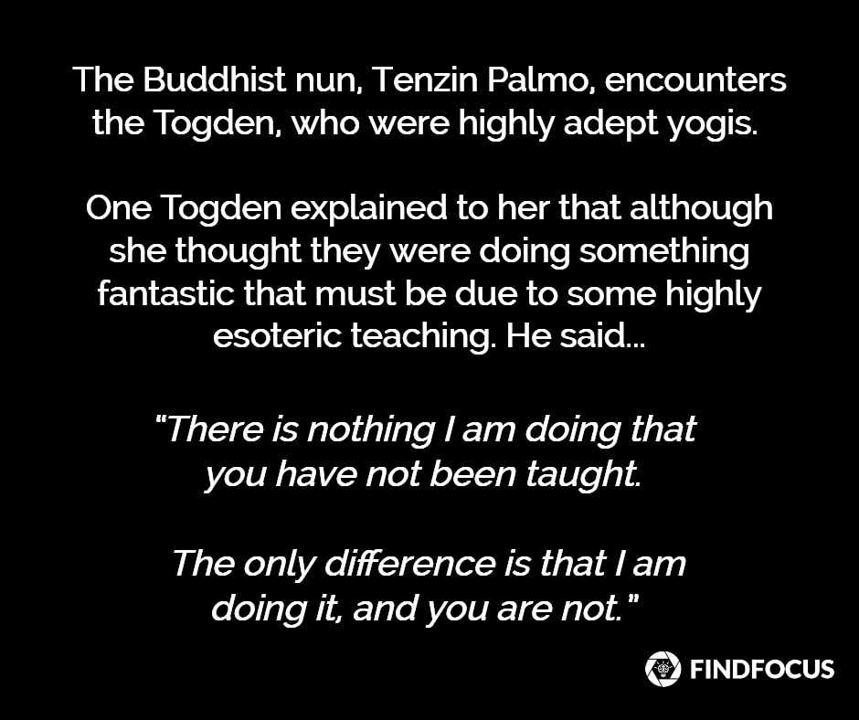 A Buddhist story about willpower