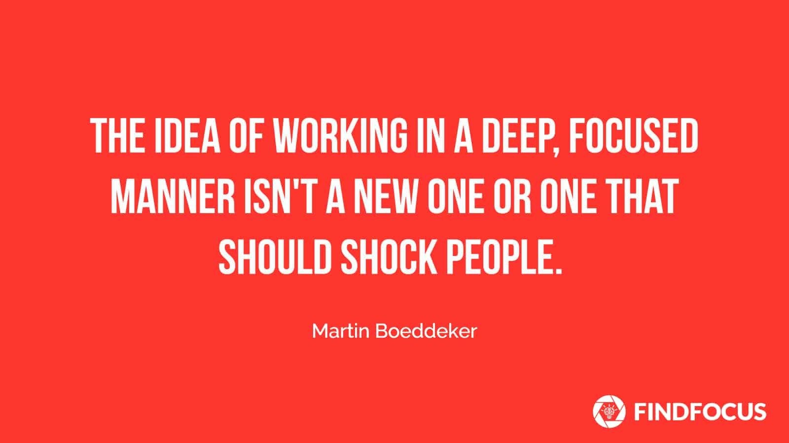 The Deep Work Book Should Not Shock People