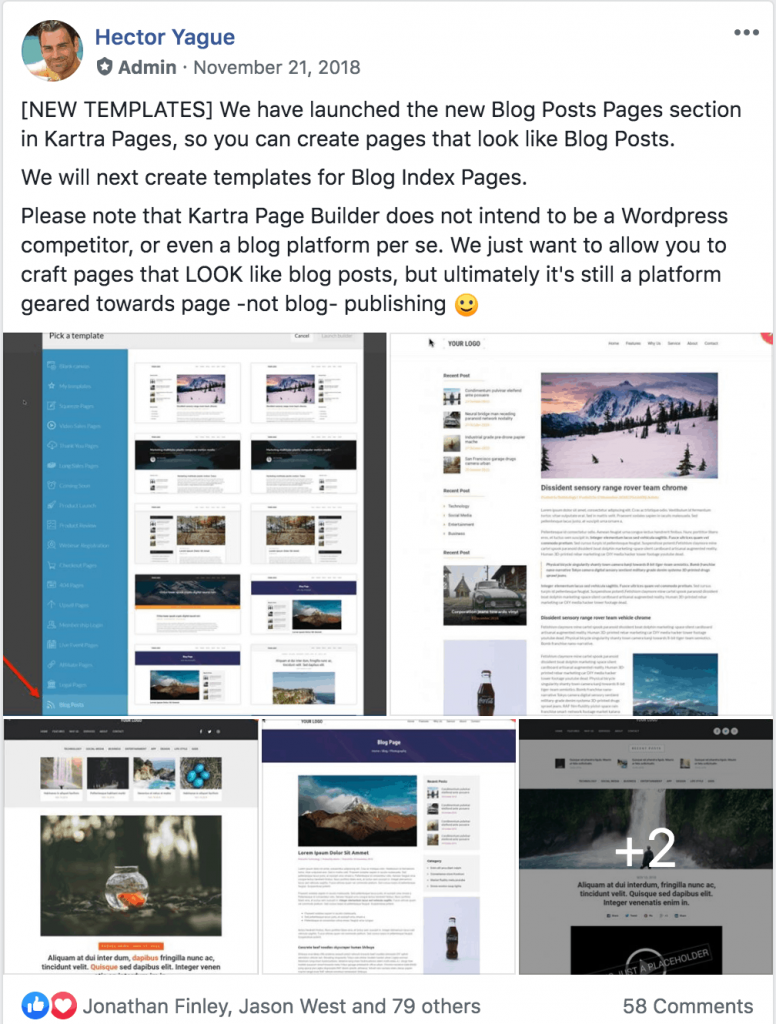 Hector Yague Statement about Blogging on Kartra