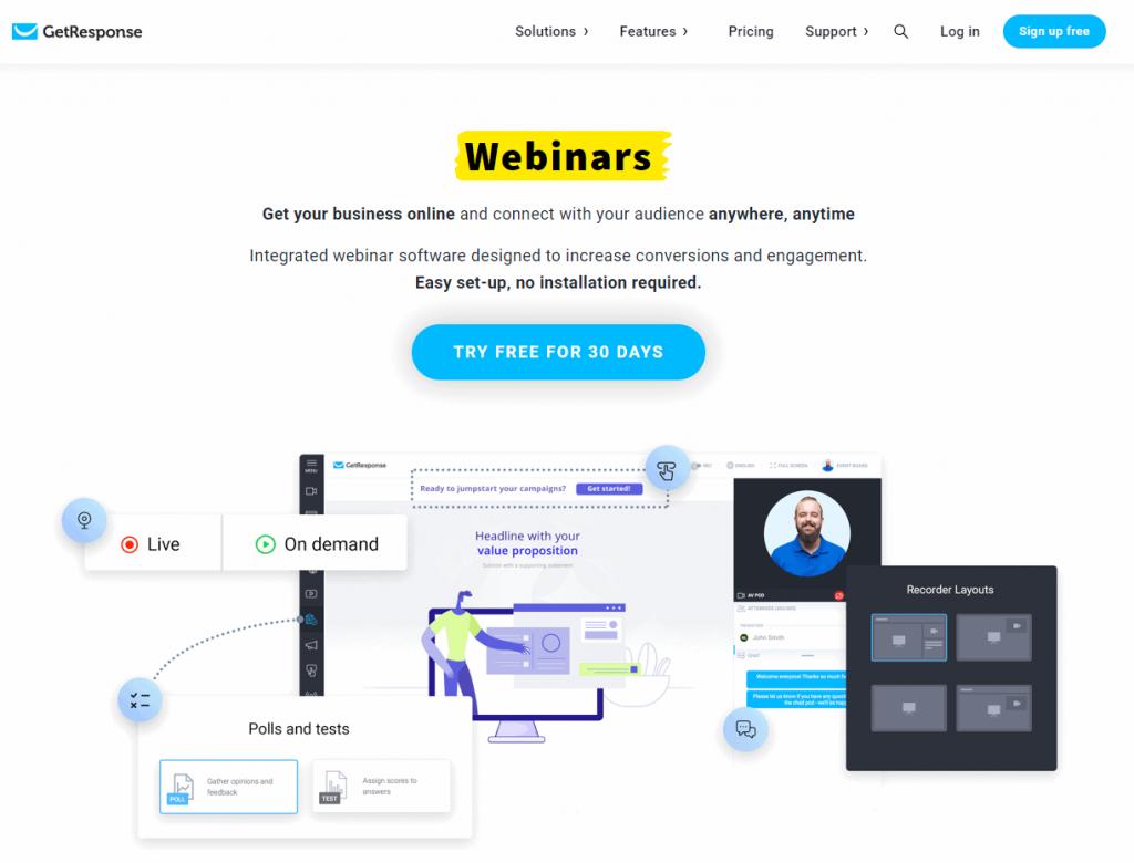 GetResponse Webinars