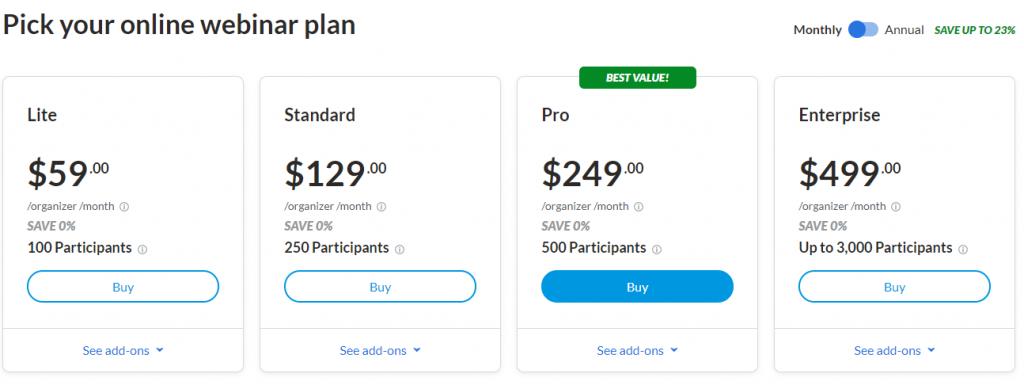 Goto Webinar Pricing